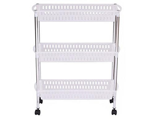 3 Layers Portable Trolley Cart Thick Serving Medical Instrument With Wheels New US Ship