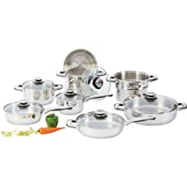 Chefs Secret 14pc Heavy-gauge Stainless Steel Cookware Set