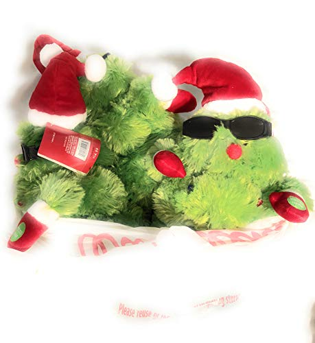 Animated Plush Sunglass Wearing Christmas Tree Singing & Dancing to Jingle Bells (Stuffed Animals Wearing Glasses)