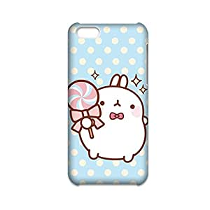 Generic Plastic Back Phone Case For Teens Print With Molang Rabbit For Iphone 5C Full Body Choose Design 1-4