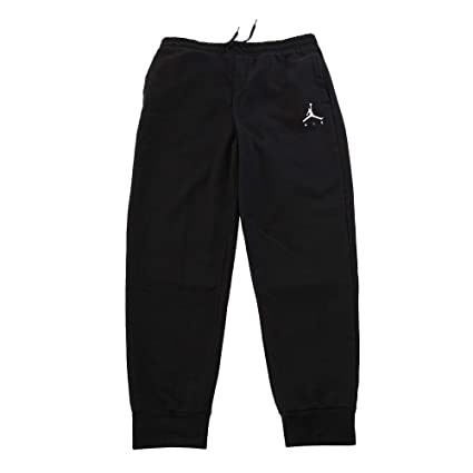 b590a0b30c42 Jordan Nike Mens Jumpman Fleece Sweatpants Black White 940172-010 Size Small