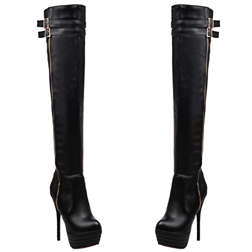 Mujeres AIYOUMEI Classic Black Boot Mujeres AIYOUMEI fRpx1wB