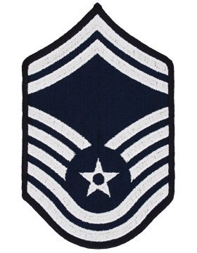 (USAF Chevron Blue/Silver (Pair) (Male, Senior Master Sergeant))