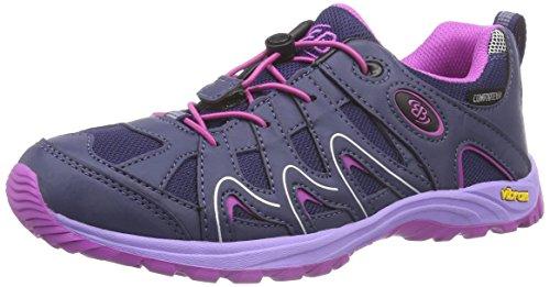 Mountain Warehouse Zapatillas Stampede para niños - Zapatillas de correr con suela de gran agarre, zapatillas impermeables, zapatillas de verano con empeine Lima 35
