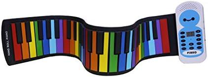 [スポンサー プロダクト]Sheny ハンドロールピアノ 49鍵 子供用 カラー色 持ち運びロールピアノ くるくる巻けてコンパクト!