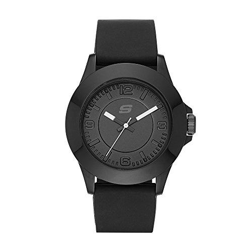 Skechers Women's Rosencrans Mid Quartz Plastic and Silicone Casual Watch Color: Black  (Model: ()
