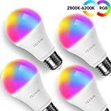 Tools & Hardware : Smart WiFi Light Bulb with Soft White Light, TECKIN 16 Million RGB Color Changing LED Bulb That Work with Alexa, Google Home and IFTTT (No Hub Required), 7.5W (60w Equivalent),4 Pack