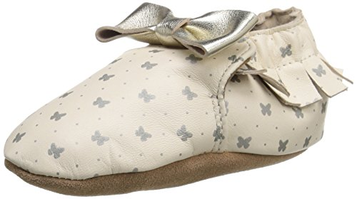 Robeez Maggie Moccasin Soft Sole Crib Shoe (Infant), Gold Butterfly, 6-12 Months M US