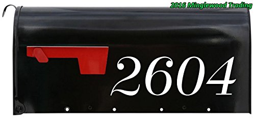 Custom House or Mailbox Numbers or Lettering Name vinyl decal sticker 11.5