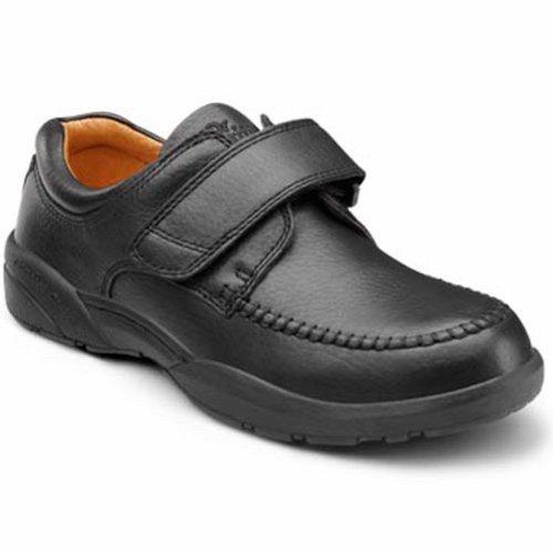 Dr. Comfort Scott Mens Therapeutisch Diabetisch Extra Diepte Schoen Leer Velcro - Zwart -9.0 X-breed (3e / 4e) Zwart Velcro Us Heren