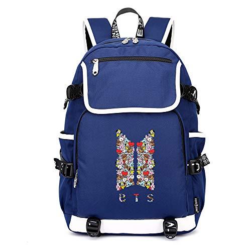 Unisex Blue11 Casual Zainetto Borsa Bts Backpack Da College Zaino Scuola RqrRwOB