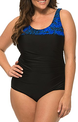 Caribbean Sand Plus Size Swimsuits for Women - Plus Size Bathing Suits for Women One Piece Plus Size Swimsuit Navy ()