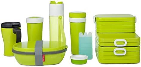 Aqua 22.5 x 17.5 x 7.5 cm Rosti Mepal Brotdose Ellipse Duo Polypropylen//Polyethylenterephthalat; 22,5/x 17,5/x 7,5/cm