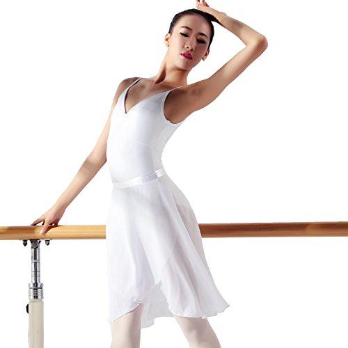 117145400Ballet Danza gasa Wrap Skirt, Blanco