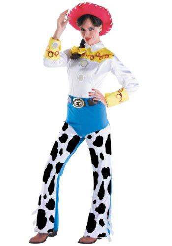 Barbie Head Halloween Costume (Disguise Women's Jessie Deluxe Adult,Multi,L (12-14))