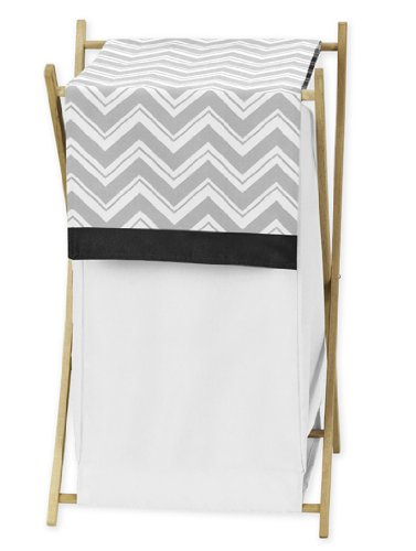 Baby/Kids Clothes Laundry Hamper for Black and Gray Chevron