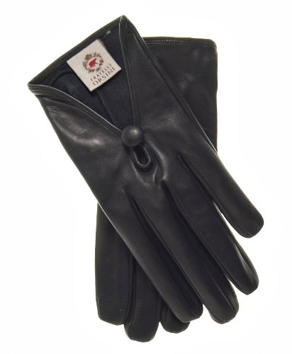 Fratelli Orsini Women's Italian Silk Lined Leather Gloves Size 6 Color Black by Fratelli Orsini