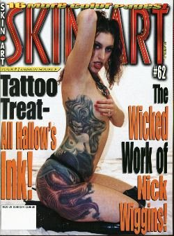 Skin Art - Issue #62: Tattoo Magazine Featuring Halloween Ink, Nick Wiggins, and More!