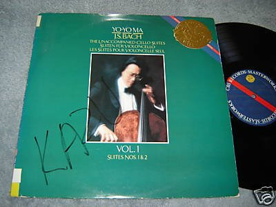 Yo-Yo Ma - J.S. Bach - The Unaccompanied Cello Suites - Vol. 1 Suites Nos. 1 & 2 - Cbs Records Masterworks (Gold Seal - Cello Vinyl Unaccompanied