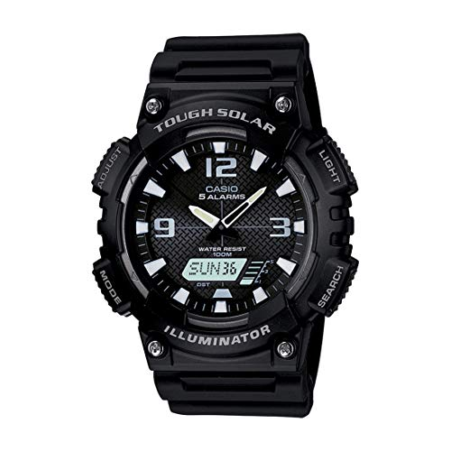 Casio Men's Tough Solar AQ-S810W-1AVCF Sport Combination Watch (Alarm Casio Watch)