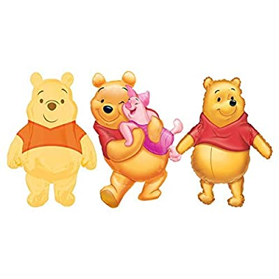 Mayflower Products Winnie The Pooh 3 pc Jumbo Foil Balloon Party Supplies and Decorations: Toys & Games