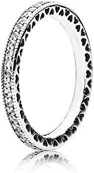 Hearts of PANDORA Sterling Silver Ring 190963CZ, Different Sizes Available (6 / 52)