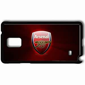 Personalized Samsung Note 4 Cell phone Case/Cover Skin Arsenal Football Black