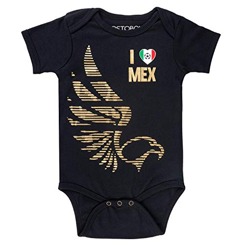 Mexico Baby Girls Boys Soccer Onesie Mexican National Fútbol Jersey Infant Eagles Golden ()