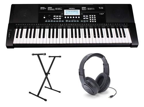 - Medeli M17 Keyboard with Headphones and Stand