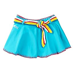 Azul Big Girls Turquoise Hippie Hippie Shake Crochet Detail Swim Skirt 6/7