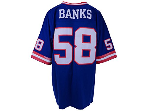New York Giants Mitchell & Ness 1986 Carl Banks #58 Replica Throwback Jersey - Blue (M)