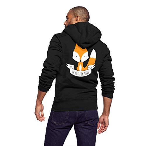 Hoodies Streetwear Pullover Sweatshirt Hooded Coat Jacket Sweater Shirt Top Windbreaker Outerwear Oh for Fox Sake - Full Zip Unlined Wind Jacket
