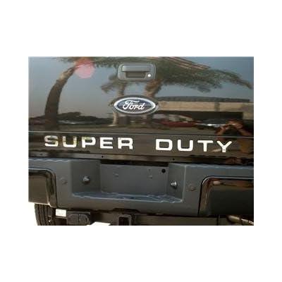 BDTrims Tailgate Raised Letters Compatible with 2008-2016 Super Duty Models (Chrome): Automotive