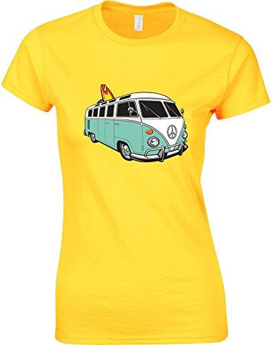 VW Camper, Ladies Printed T-Shirt
