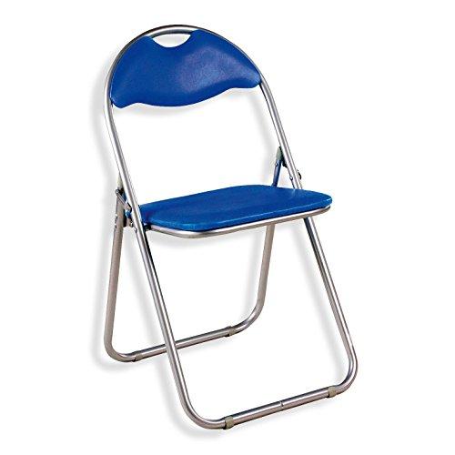 ROLLER Klappstuhl BLUE - blau - Kunstleder