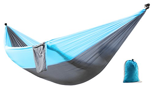 Zoophyter-Double-Camping-Hammock-Nylon-Fabric-Parachute-Perfect-for-Park-Travel-Beach-and-Outdoor-With-Free-Hammock-Rope-Steel-Carabiners