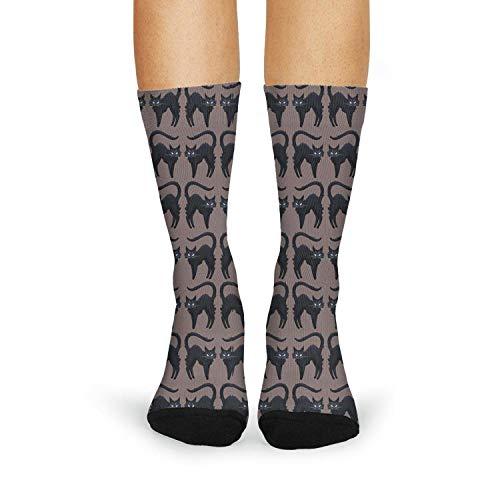 Fuuny cute cats lover halloween black Womens Hiking Socks Lightweight Novelty ()