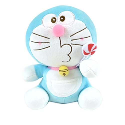 "8/"" Cute Plush Toy Soft Smile Doraemon Doll Stuffed Animal Gift Free shipping"