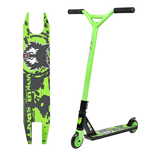 Vokul Freestyle Tricks Pro Stunt Scooter for Kids Boys Girls - Entry Level Rider - Integral Stable Performance for Barspin,Tailwhip,Heelwhip etc in skatepark