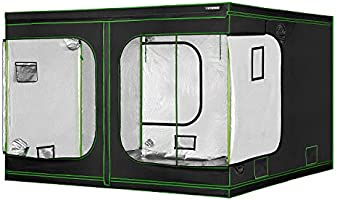 VIVOSUN Mylar Hydroponic Grow Tent with Observation Window and Floor Tray for Indoor Plant Growing 10x10 FT