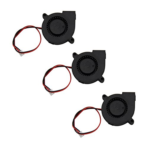 Axial Centrifugal Fans - Cooling Blower Fans for 3D Printer HONG111 DC 12V 0.23A Axial Fan 50x50x15mm Mini cooling fens for Appliances Repair DIY Replacement Accessories (3Pcs)