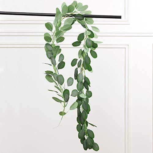 PUPOUSE Eucalyptus Garlands Artificial Greenery Garland Faux Silk Eucalyptus Vines Wedding Backdrop Wall Arch Wall Decor Flower Arrangement Green