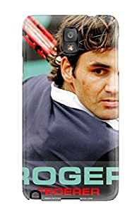 Premium Durable Roger Federer Fashion Tpu Galaxy Note 3 Protective Case Cover