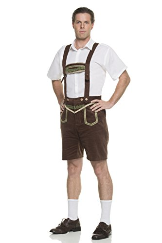 Mystery House Men's Bavarian Man, Brown/White/Green, Small by Mystery House