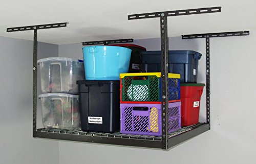 24' Storage (Monsterrax - 4x4 Overhead Garage Storage Rack (24'-45