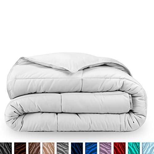 Bare Home Kids Comforter/Duvet Insert - Twin/Twin Extra Long - Goose Down Alternative - Ultra-Soft - Premium 1800 Series - Hypoallergenic - All Season Breathable Warmth (Twin/Twin XL, White) (Xl Covers Twin Duvet)