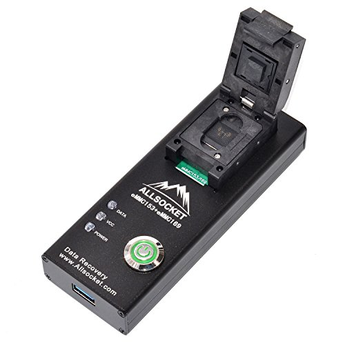 eMMC153 Internal Memory Reader,BGA153/169-USB3.0 Adapter FBGA153 Package Testing Socket for Mobile Chip-Off Data Recovery Samsung S2/S3/S4/S5,Galaxy Note2/3,S3 N7100 I9300 (Best Data Recovery App)