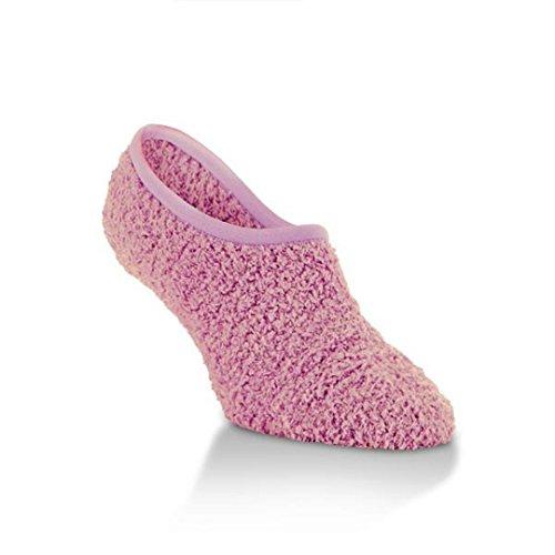 Worlds Softest Berry Pink Super Soft Cozy Footsie Slipper...
