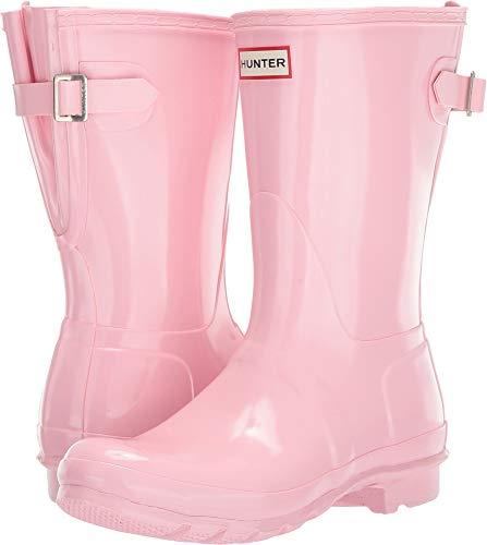 Hunter Women's Original Back Adjustable Short Gloss Rain Boots Candy Floss 9 M US ()
