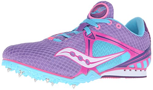 Saucony Women's Velocity Track Shoe,Purple/Pink/Light-blue,9.5 M US